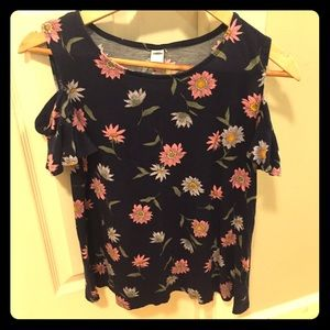 Old navy cold should floral print top